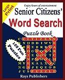 Senior Citizens' word search puzzle book