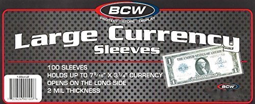 Price comparison product image 200 Large Bill Currency Sleeves