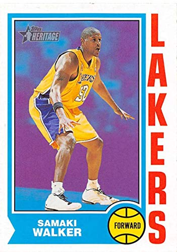 2001-02 Topps Heritage Basketball #251 Samaki Walker Los Angeles Lakers Official NBA Trading Card (Samaki Walker)