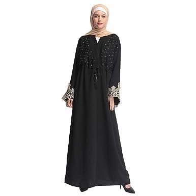45f23c30f18d1 Amazon.com: Womens Muslim Kaftan Abaya Maxi Dress Dubai Kaftan Long ...
