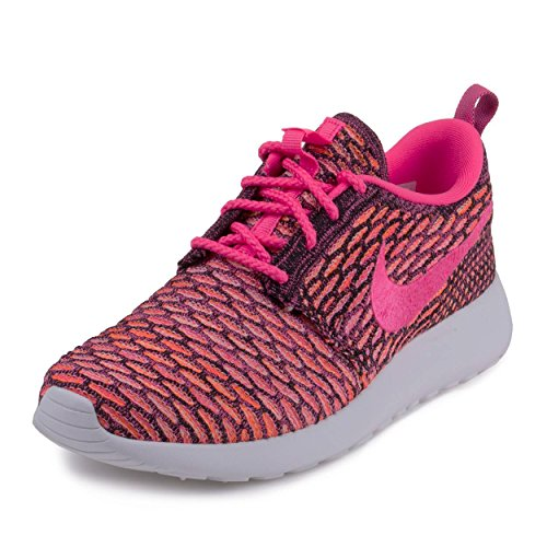 f997c5f4c1fe Nike Womens WMNS Rosherun Flyknit Black Pink Pow-White-Total Orange  Synthetic Size 8 Running