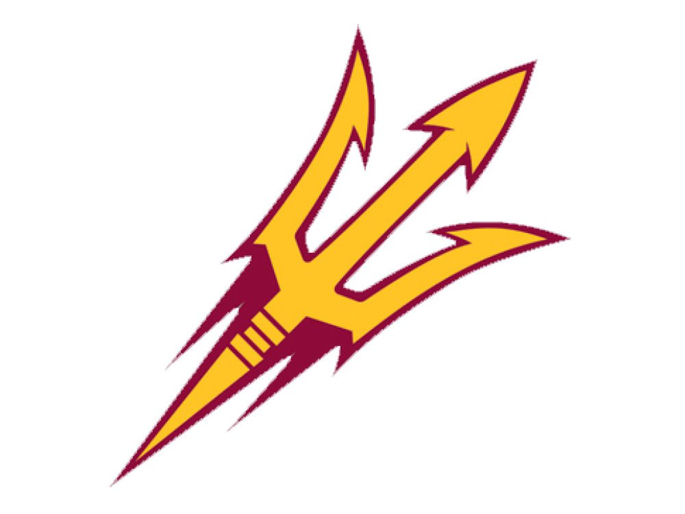 NCAA Arizona State University 60251011 Perfect Cut Color Decal 8 x 8