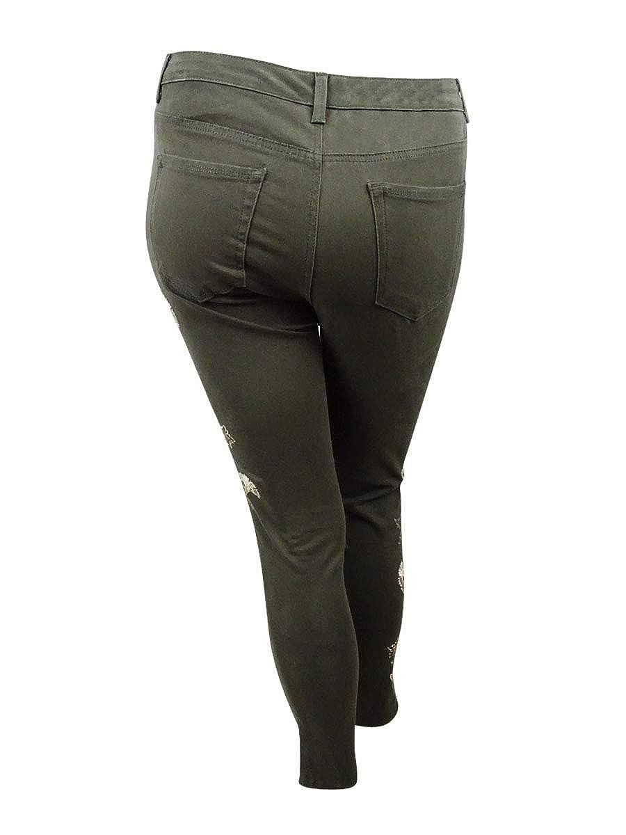 Charter Club Womens Bristol Embroidered Tummy-Control Jean 10, Autumn Sage