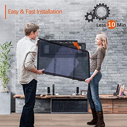 PUTORSEN® TV Wandhalterung - Schwenkbar Neigbar TV Halterung 32-70 Zoll (ca. 81-178 cm) Flach & Curved LED LCD Fernseher oder Monitor bis zu 50kg, VESA 75x75-400x400mm