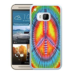 Hot Sale HTC ONE M9 Case ,Popular Unique Designed Case With Colorful Peace Sign White For HTC ONE M9 Case High Quality Phone Case