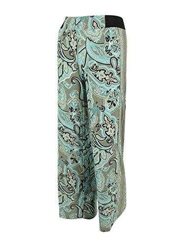 (INC International Concepts Women's Paisley Print Jersey Pants (PP, Multi))
