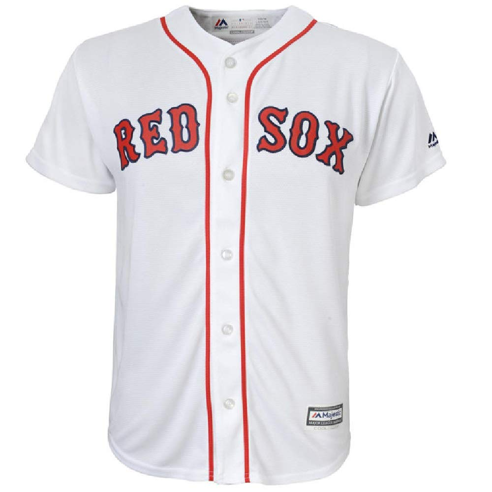 Mookie Betts Boston Red Sox Cool Base White Youth Replica Jersey