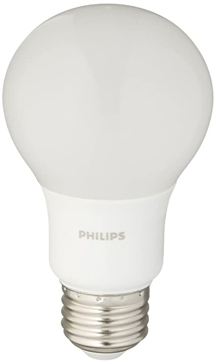 Philips 461145 40W Equivalent Soft White A19 Non-Dimmable LED Household Light Bulb (4-Pack)