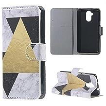 Liquid Z410 Case, Candy House Acer Liquid Z410 Case Fashion Geometric Pattern Horizontal Wallet Case Magnetic Closure Flip Cover
