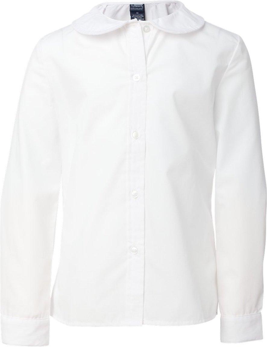 French Toast Long Sleeve Peter Pan Blouse (Feminine Fit) Girls White 16