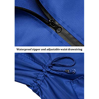 URRU Women's Lightweight Raincoats Waterproof Hoodie Outdoor Windbreaker Rain Jacket S-XXL: Clothing