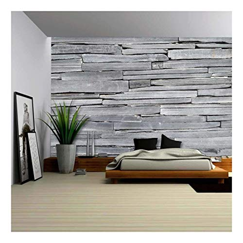 wall26 - Stone Walls are a Kind of Masonry Construction Which Have Been Made for Thousands of Years - Removable Wall Mural   Self-Adhesive Large Wallpaper - 100x144 inches