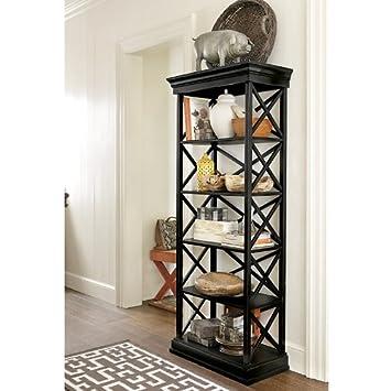 Amazon.com : Bourdonnais Bookcase - Black - Ballard Designs ...