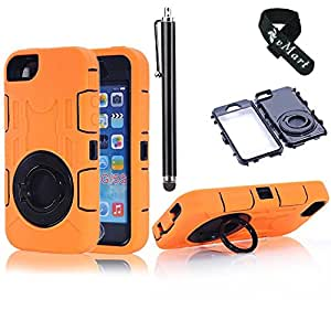 vMart Camera Appearance Design Hybrid Hard Case With Stand Case Cover for iPhone 5/5s,vMart-Orange