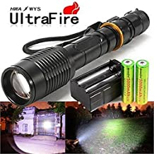 Defensive Flashlight Law Enforcement EDC Self Defense HID Brightest LED 8000 Lumens Rechargeable
