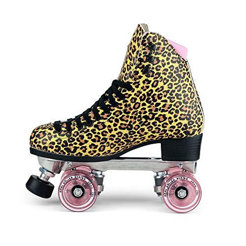 Moxi Skates - Ivy Jungle - Fashionable Womens Roller Skates | Leopard | Size 8 by Moxi (Image #3)