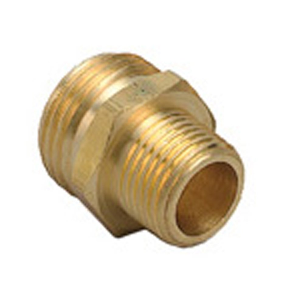 10 Pack - Orbit Brass Hose to Pipe adapter | 3/4 Inch Male Hose Thread x 1/2 Inch Male Pipe Thread | Connect Water Hose to PVC or Metal Pipe Thread by Orbit