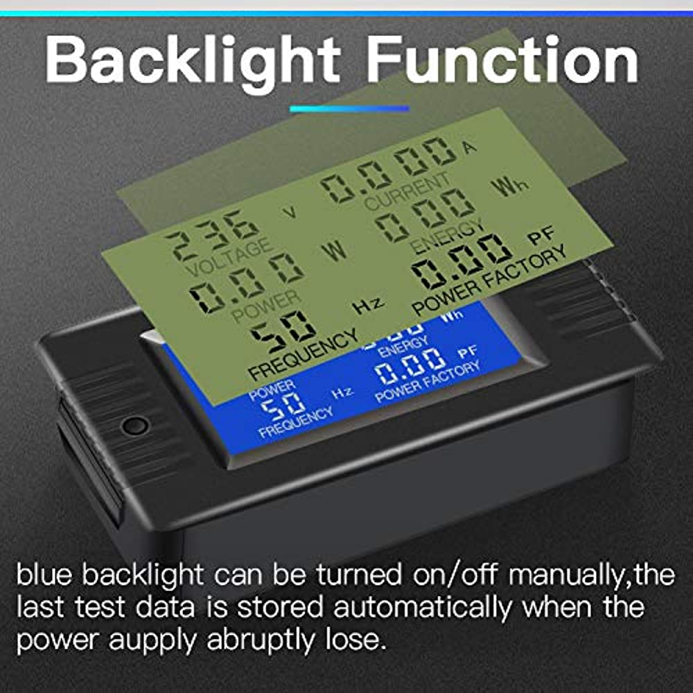Details about Multi Testers AC Current Voltage Amperage Power Energy Panel  Meter LCD Digital -