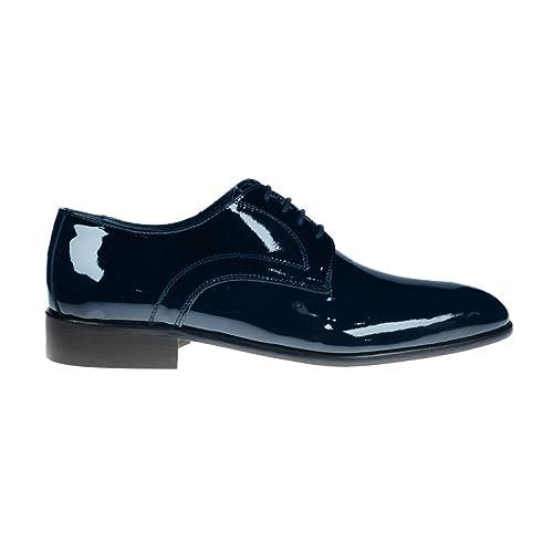 wholesale dealer d5de3 8070c BRAWN'S Derby in Vernice e Fondo Cuoio: Amazon.it: Scarpe e ...