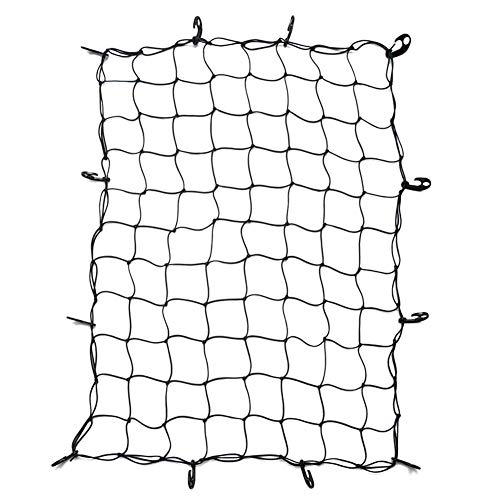 COREYCHEN Luggage Net Cargo Net for Truck Bed Stretches Motorcycle Luggage  Net Box Luggage Mesh Web Luggage Cargo Net with Hooks Hold Down for