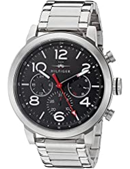 Tommy Hilfiger Mens 1791234 Jake Analog Display Japanese Quartz Silver Watch