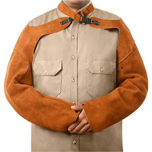 Steiner 92181 Sleeves, Weld-Rite Premium Brown Split Cowhide, ()