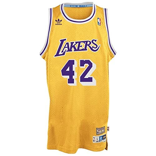 los angeles a6f42 8ae58 60%OFF James Worthy Los Angeles Lakers Adidas NBA Throwback ...