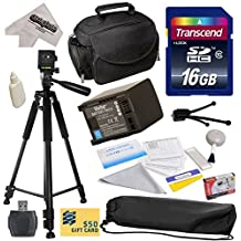 """Best Value Accessory Kit for Canon HF S10 S11 S20 S21 S30 G10 G20 S100 M30 M31 M32 M40 M41 M300 M400 XA10, HF10, HF11, HF20, HF100, HF200, HG20, HG21, HG30, HFS10, HFS11, HFS20, HFS21, HFS30, HFG10, HFG20, HFS100, HFM30, HFM31, HFM32, HFM40, HFM41, HFM300, HFM400 Video Camera Camcorder Includes - 16GB High-Speed SDHC Card + Card Reader + Vivitar 2000mAh Replacement Battery for Canon BP819 BP-819 + Deluxe Padded Carrying Case + Professional 60"""" Tripod + Lens Cleaning Kit including LCD Screen"""