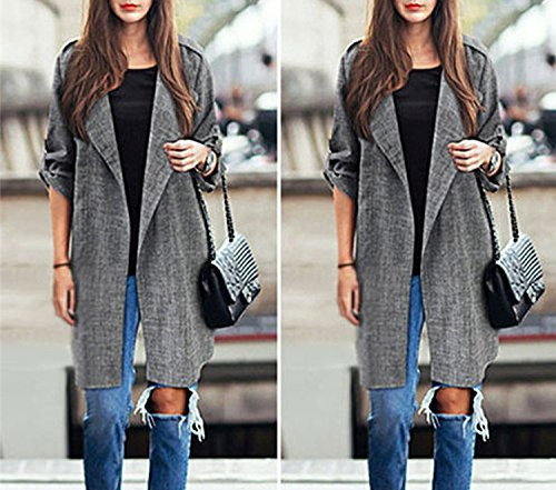 Cloak 1 Jackets Front Women Overcoat Jackets Spring Long Waterfall Autumn Cardigan Coat Kidly Open Blusas xHq68XA