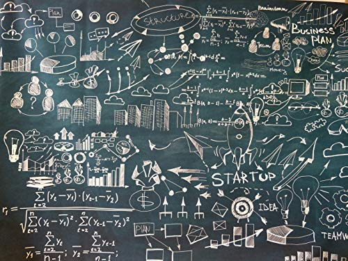 7ftx5ft Back to School Photography Backdrop Graffiti Blackboard Chalk Drawing Mathematical Formula Geometric Figure Photo Background Student Backdrops for Photo Booth Studio Props