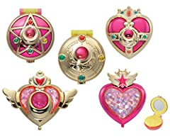 Sailor Moon Transforming Compact, which are the most iconic items in Sailor Moon Series. Transforming Compact in several series in 1 Box Set!.