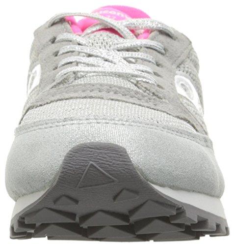 SAUCONY - Zapatilla deportiva fucsia con cordones, en gamuza y sintético, colorida, cómoda y de moda, niña, niñas, mujer GRIS