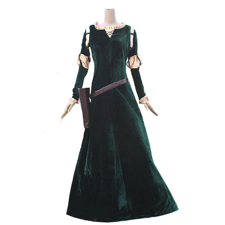 Adult Princess Merida from Brave 4-Pc Custom Made Cosplay Costume