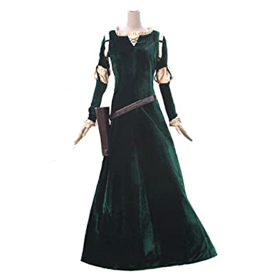 Cuterole Princess Merida Adult Costume Brave Merida Cosplay Party Dress Custom  sc 1 st  Amazon.com & Amazon.com: Cuterole Princess Merida Adult Costume Brave Merida ...