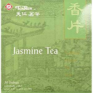 Ten Ren Jasmine Tea ( Individually Sealed), 50 Tea Bags