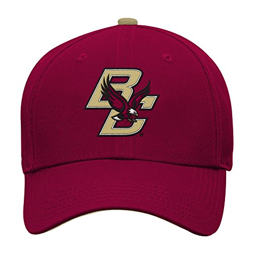 NCAA by Outerstuff NCAA Boston College Eagles Kids & Youth Boys Basic Structured Adjustable Hat, Burgundy, Youth One Size
