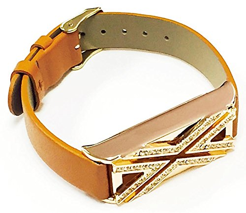 Leather Replacement Bracelet Diamonds Encrusted