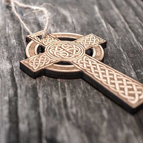 Ornament - Celtic Cross - Raw Wood 2x4in by Hip Flask Plus (Image #2)