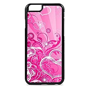 Case Fun Case Fun Pink Hearts and Swirls Snap-on Hard Back Case Cover for Apple iPhone 6 4.7 inch