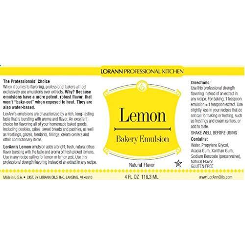 16 oz Lemon Bakery Emulsion- BULK by LorAnn (Image #2)
