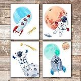 art for kids rooms Kids Space Decor Art Prints (Set of 4) - Unframed - 8x10s