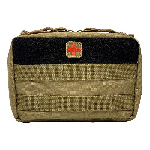 (HSD Tactical Family First Aid Kit Admin EMT Medical IFAK Utility MOLLE Pouch (Coyote Brown) )