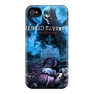 Shock Absorbent Hard Phone Covers For Apple Iphone 4/4s (FJF8662PdSd) Unique Design Nice Avenged Sevenfold Pattern