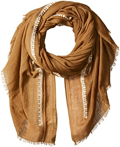 French Connection Women's Dream Lightweight Scarf, Terra Tan/Classic Cream, O/S