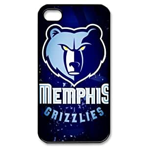DIY case 1 NBA Team Memphis Grizzlies Print Black Case With Hard Shell Cover for Apple iPhone 4/4S