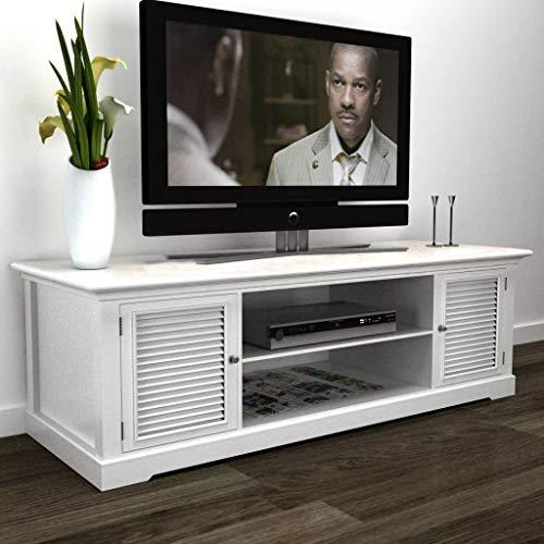 (daindy White Wooden TV Stand)