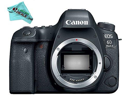 Canon EOS 6D Mark II Digital SLR Camera Body – Wi-Fi Enabled & Liquid Deals Cleaning Cloth