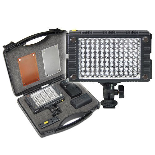 Z-96K Professional Photo & Video LED Light Kit For Canon GL1, GL2, XA10, XA20, XA25, XF100, XF105, XF200, XF205, XF300, XF305, XH-A1, XH-A1S, XH-G1, XH-G1S, XL-H1, XL-H1A, XL-H1S, XL1, XL1S, XL2 Camcorder by Big Mike's