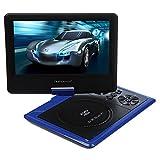 DB Power MP0252 9.5-Inch Portable DVD Player, LCD Screen Display, USB, Analog Signal TV, Swivel and Flip, VAG/CD/VCD/MP3/MP4/USB (Blue)