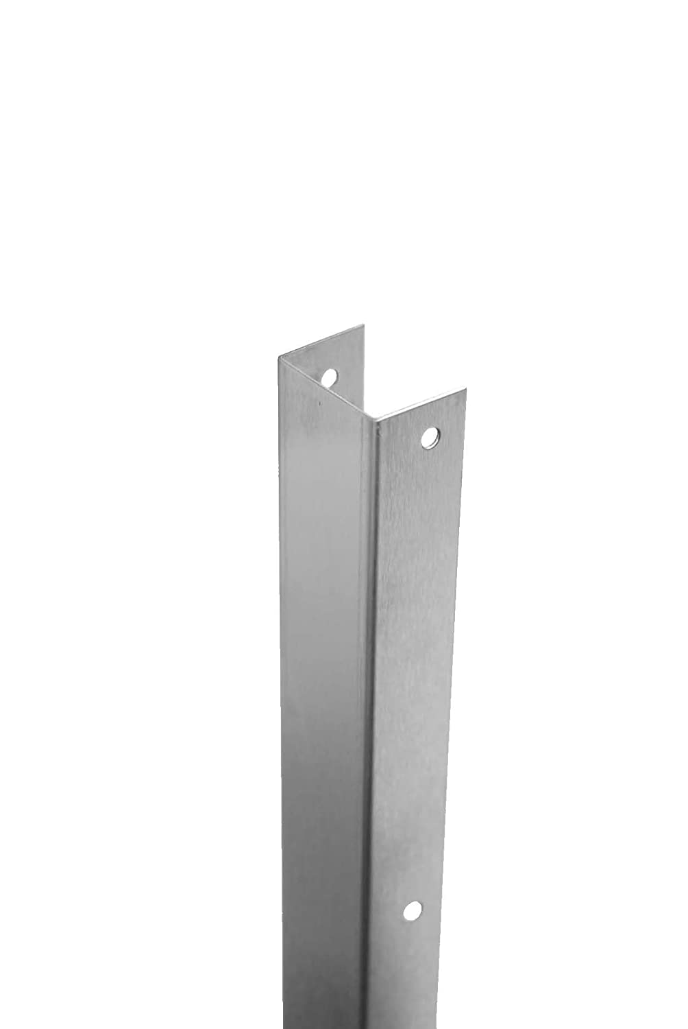 3//64 Thick Don-Jo 1298 Stainless Steel 300 Scotch Mount U Guard Satin Stainless Steel Finish 42 Length